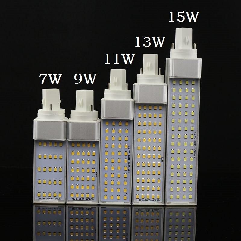 Lampada E27 G24 G23 7 watt 9 watt 11 watt 13 watt 15 watt 110 v 220 v 240 v horizontale Stecker lampe SMD2835 Bombillas LED PL Mais Birne Spot licht Beleuchtung