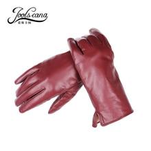 Joolscana-gants en cuir pour femmes   Gant de poignet à la mode, gant dautomne en peau de mouton véritable importé italien, neuf 2017