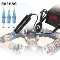 rotary machine kit with disposable tattoo cartridge needles body art shader liner machine gun permanent makeup quite motor gun