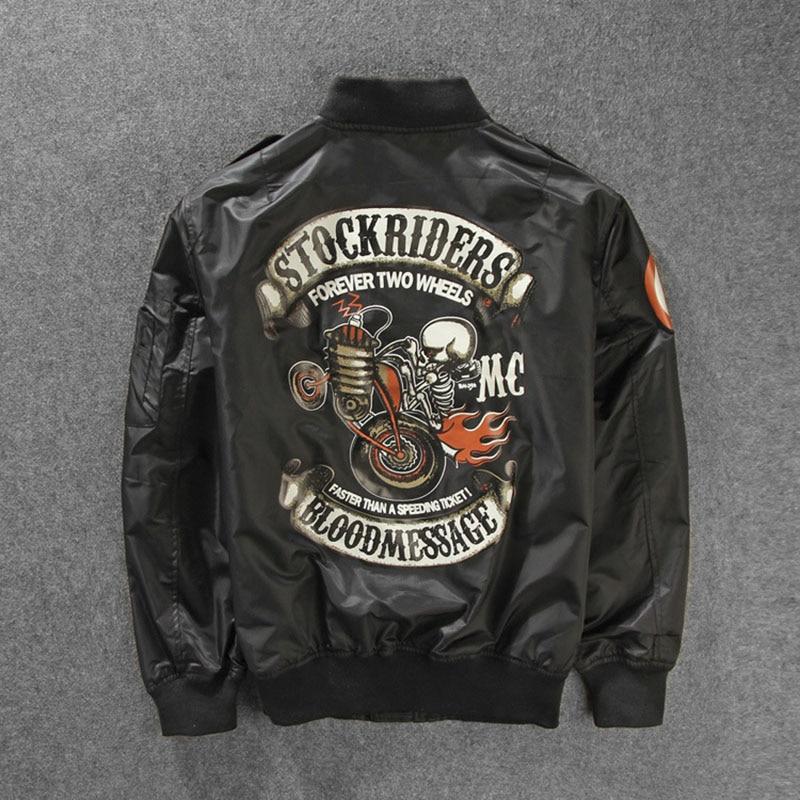 Мужская ветровка, мотоциклетная куртка с черепом, большой размер, ветровка, M-3XL