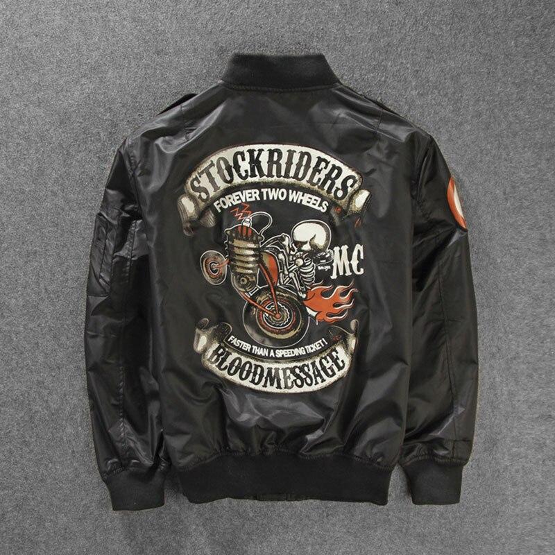 ¡Novedad! cazadoras de lujo para motociclistas Stockriders, chaquetas de béisbol de talla grande para hombre, chaqueta de calavera para piloto, chaquetas rompevientos para M-3XL