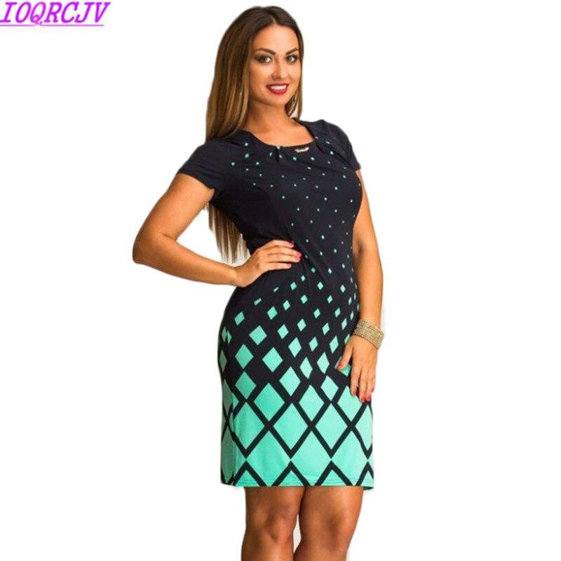 Vestido de verano femenino 2018 nuevo estampado de moda Sexy elegante vestido de mujer de talla grande L-6XL ropa de fiesta estilo europeo H21