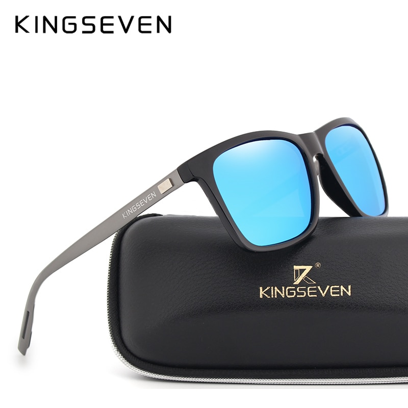 KINGSEVEN 2017 Mode Aluminium TR90 Polarisierte Sonnenbrille Frauen Unisex Quadratische Männer Designer UV400 Fahr Sonnenbrille Brillen
