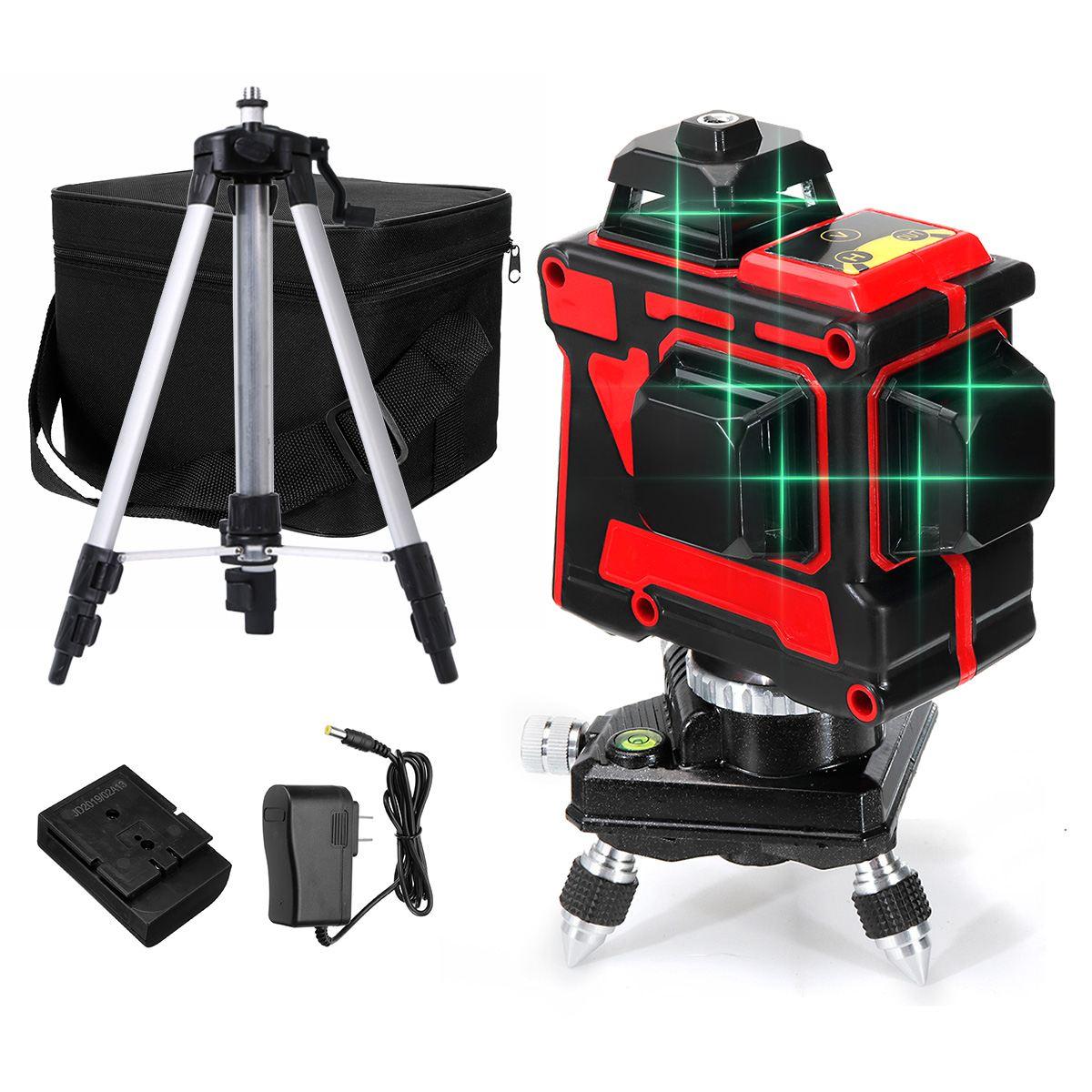 ZEAST Laser Levels High-precision 12 Lines 3D Green Laser Self Leveling 360 Degree Horizontal & Vertical Cross Waterproof