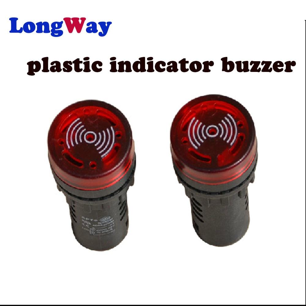 LED Active Buzzer Beep Alarm Indicator 1pc AD16-22SM 12V 24V 110V 220V 380V  Red Green Yellow Black 22mm Flash Signal Light