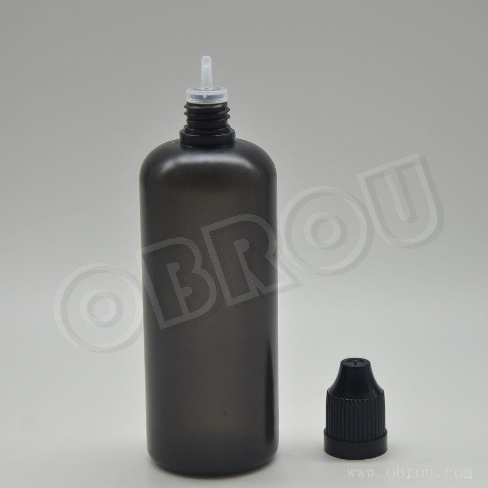 Wholesale price 100ml black dropper bottles for personal care essential oil plastic bottle 1500pcs