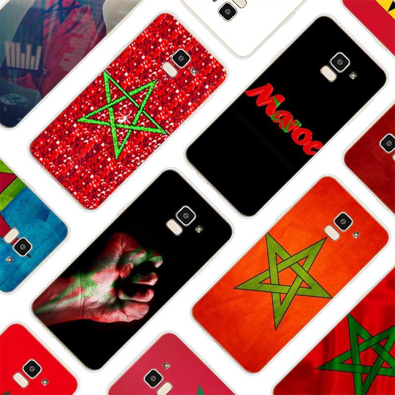 Silicone Soft Phone Case MA Maroc Morocco Flag For Samsung Galaxy j8 j7 j6 j5 j4 j3 Prime Plus 2018 2017 2016