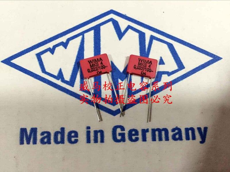 2020 hot sale 10pcs/20pcs German capacitor WIMA MKS4 100V 0.022UF 100V 223 22NF P: 7.5mm Audio capacitor free shipping 2020 hot sale holland bc 20pcs 50pcs 82pf 100v 2