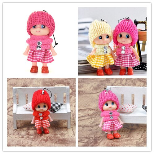 Mini llavero Peluche de moda lindo niños muñecos de peluche llavero de peluche de juguete llavero de juguetes bebé para las niñas y las mujeres