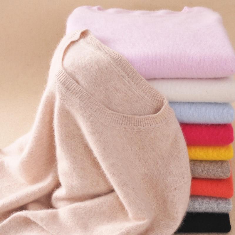 0,3 alta calidad otoño primavera cachemir algodón mezclado mujeres suéteres y suéteres Jersey pull femme hiver