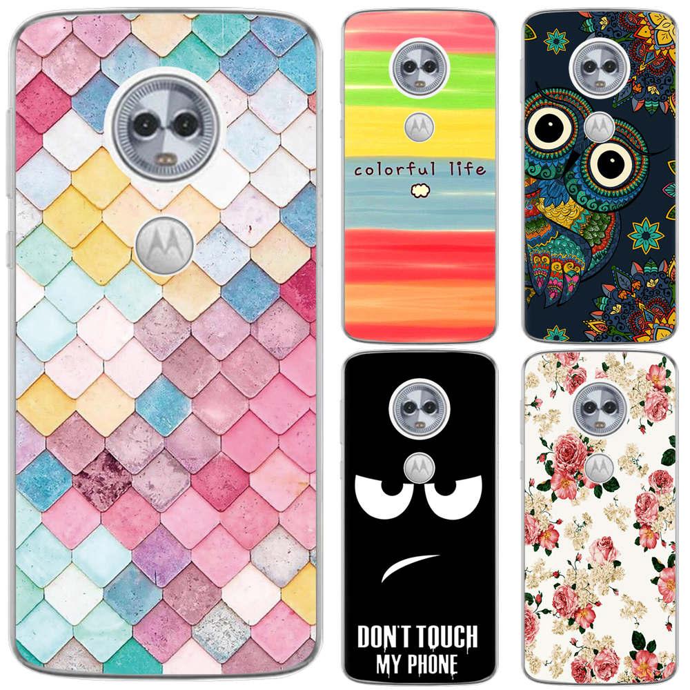Phone Case For Moto E5 ( G6 Play)/ Moto E5 Play/ MOTO E5 Plus Fashion Design Art Painted TPU Soft Case Silicone Cover