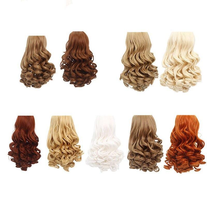 Accesorios para muñecas, pelucas de muñeca de 18 pulgadas, pelucas rusas, pelucas rizadas de muñeca de 25-28CM