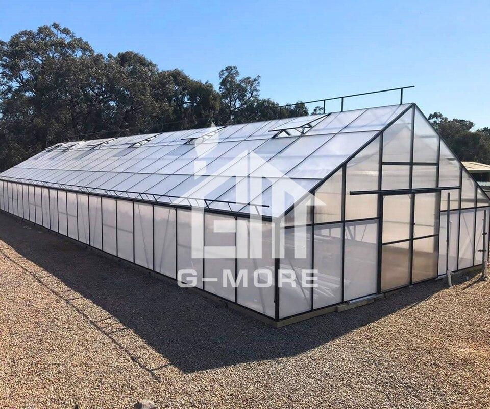 Invernaderos impermeables de montaje rápido, de un solo palmo, tamaño grande, de aluminio, China