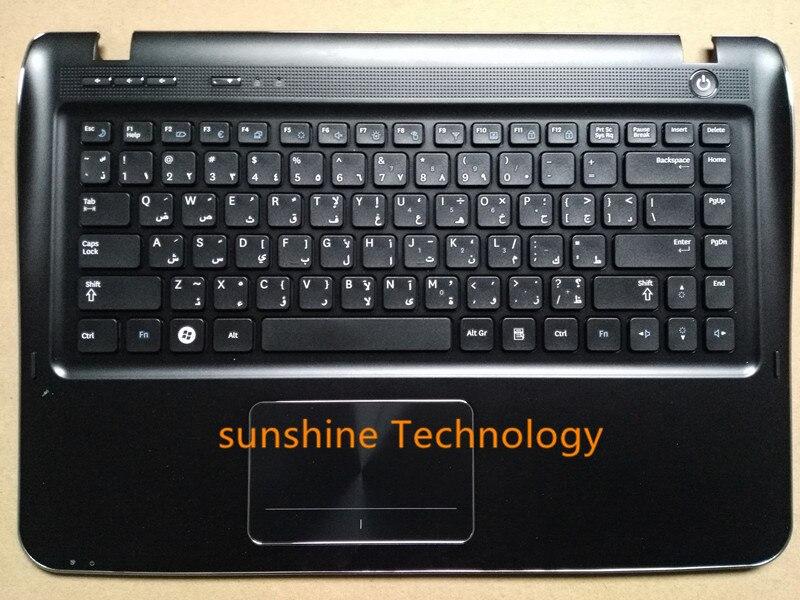 Layout árabe novo teclado portátil com touchpad palmrest para samsung BA75-02977E sf410 sf411