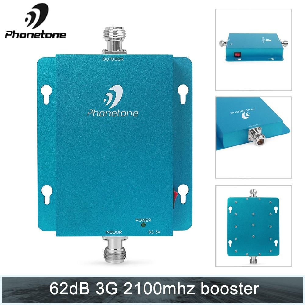 Mini Size Powerful 3G Cell Phone Signal Booster Repeater Amplifier 2100MHz 62db Gain 3G Signal Amplifier Mobile Phone Repeater