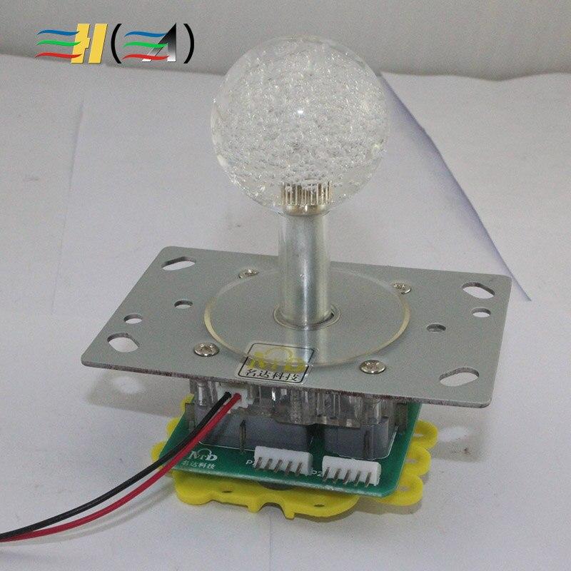 A energia Nuclear Colorido joystick joystick máquina de Diversões Luz olhos Fretting Dupla garantia durável