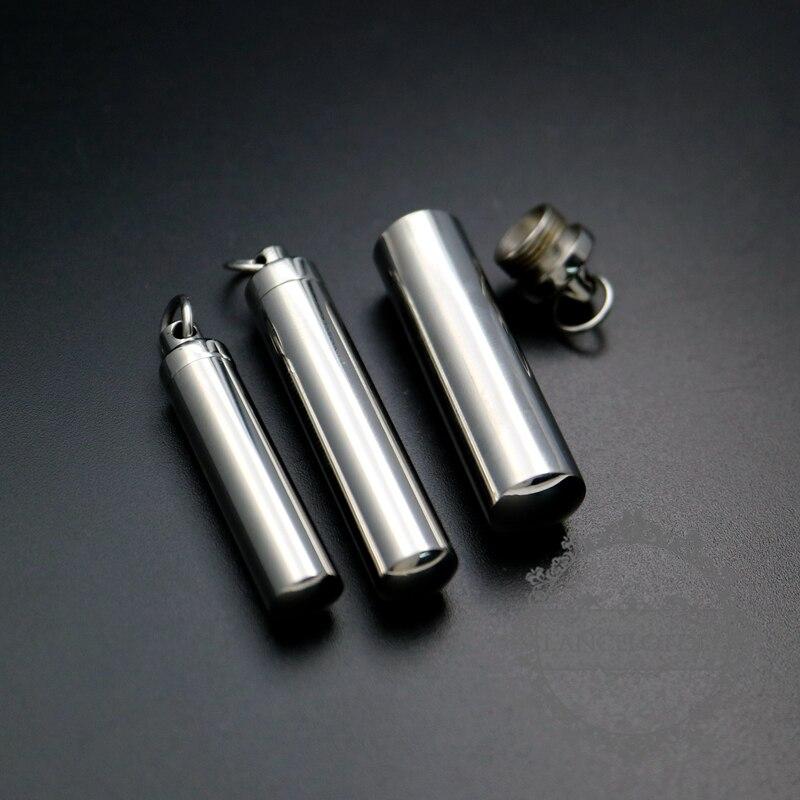316L tubo de acero inoxidable perfume caja tornillo superior deseo vial colgante encanto DIY joyería suministros 1162001