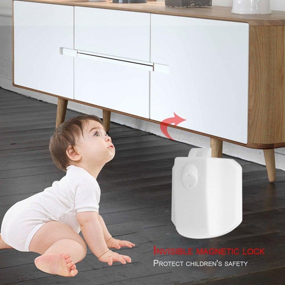 Bloqueo de seguridad multifuncional para niños, bloqueo magnético práctico para niños, armario, armario, cajón, sistema de bloqueo