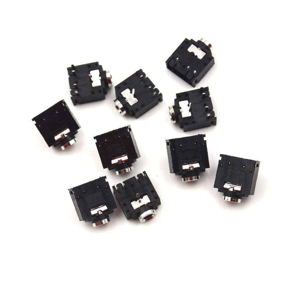 Conector estéreo de 5 pines 3,5mm, 10 Uds., clavija de conexión de Audio, PJ-307 PCB
