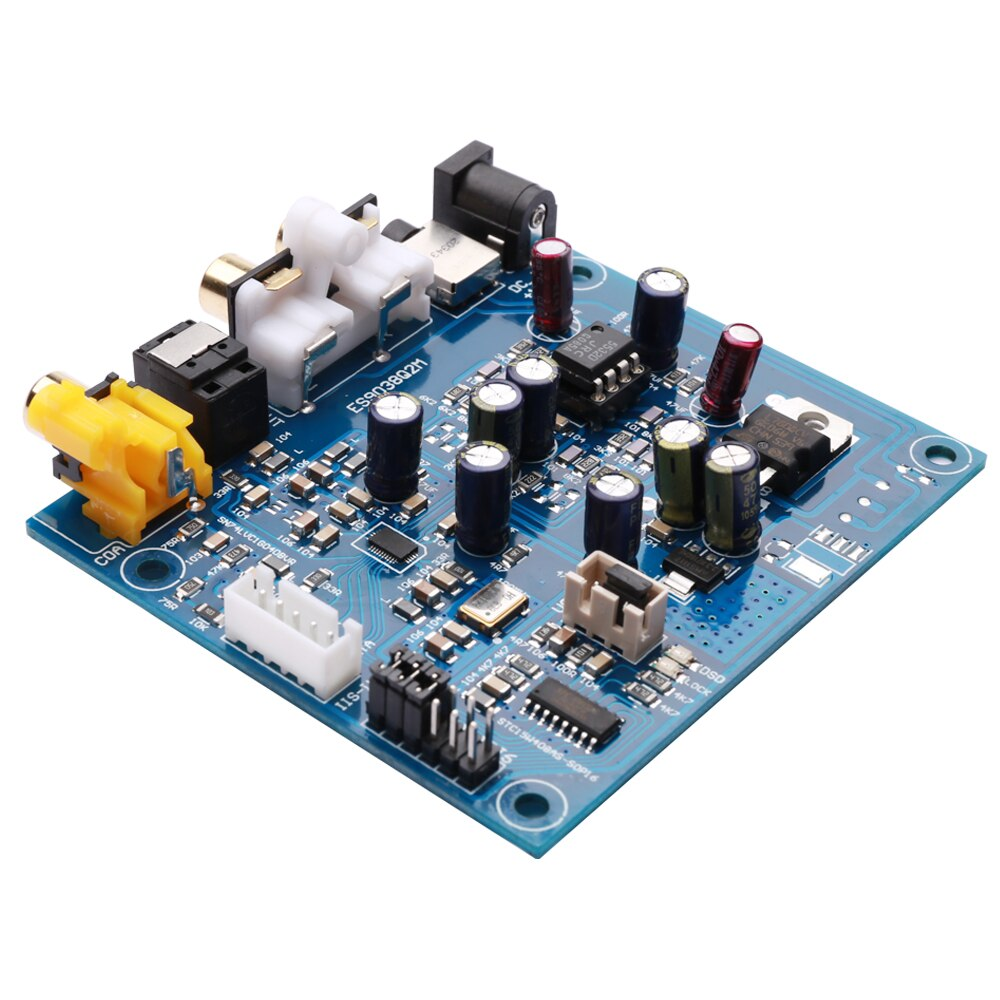 KGUSS M7A JRC55320 ES9038Q2M I2S DSD decodificador de entrada Coaxial óptico DAC auriculares salida Placa de amplificador de audio