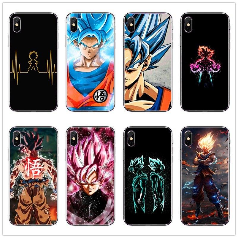 Dragon Ball DragonBall z goku funda trasera de silicona suave para teléfono TPU para iPhone 5 6 7 8 Plus X XR XSMAX Fundas Coque