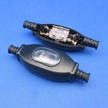 Interrupteur de cordon étanche en ligne 1 pièce   Fil dargent IP65, interrupteur à double contact, interrupteur anti-poussière CE ZJXXDZ 3A 250V