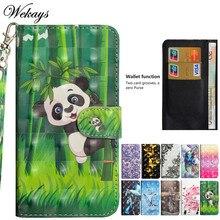 Wekays For ZTE A6 Lite A 6 Lite Case Cute Cartoon Panda Leather Flip Funda Case For Coque ZTE Blade A6 Lite A 6 Lite Cover Cases