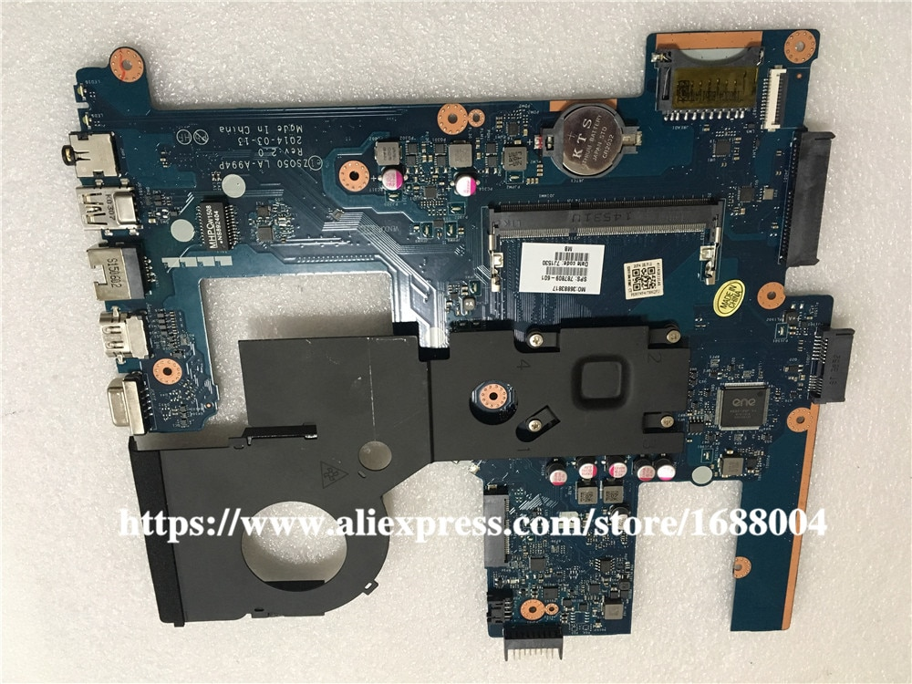 Para HP 15-R 250 G3 Series Laptop motherboard 787809-601 787809-001 DDR3L LA-A994P W/N3540 CPU com Heaisnk