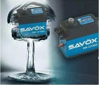Savox engranaje de acero sin núcleo impermeable Servo Digital coche Crawler Drift SW-1210SG