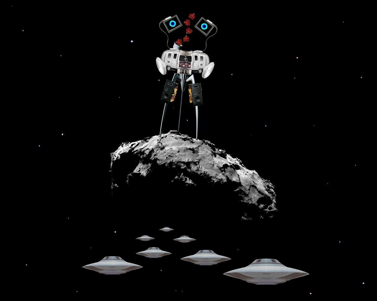 Радио VOYAGER Alien Sci-Fi научная фантастика Ретро винтажный крафт-постер декоративная стена стикер Холст Картина домашний Декор подарок
