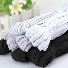 10 metri 3/6/9/10/12MM elastico per cucire cavo elastico in gomma poliestere bianco nero per abbigliamento abbigliamento accessori per il cucito