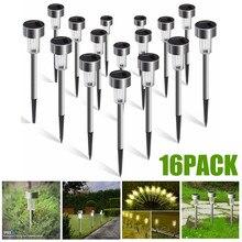 16 Pack Solar Tuinverlichting Outdoor Zonne-energie Pathway Lichten Outdoor Landschap Spot Lights Led Voor Villa Tuin Park Balkon
