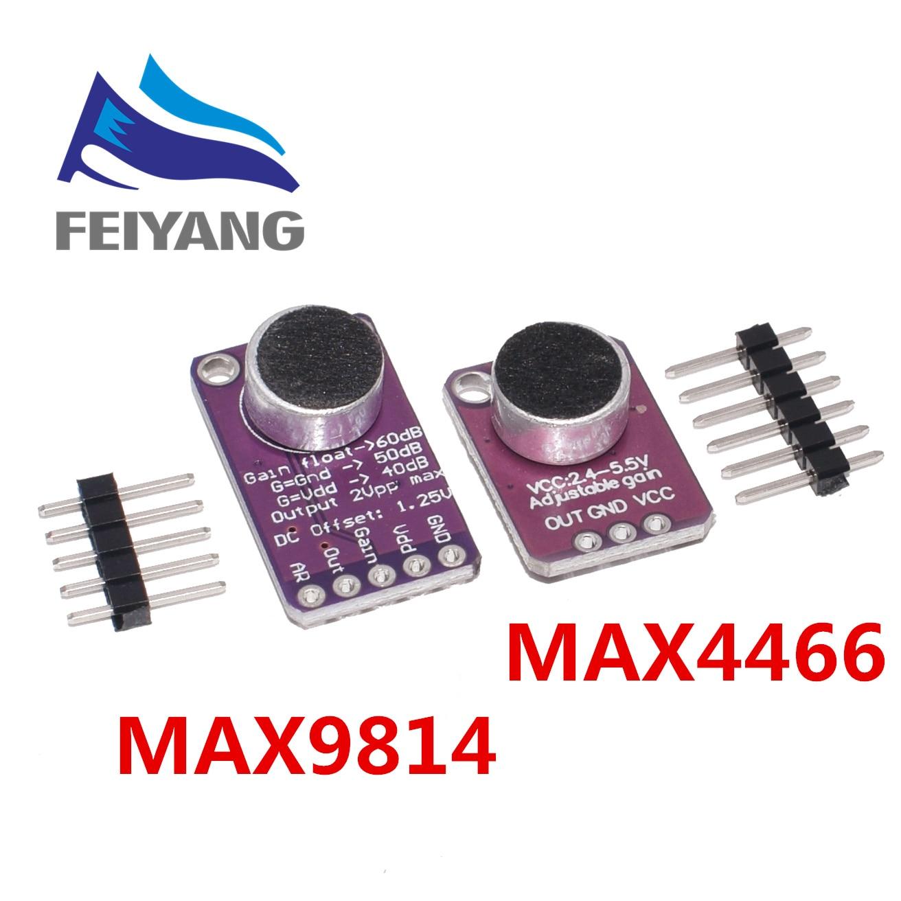 Электрический усилитель микрофона, стабильный модуль MAX9814, автоматическое управление усилением MAX4466