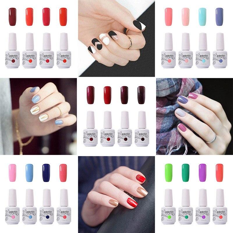Гель-лак для ногтей Clou Beaute, 15 мл, набор цветов, 4 шт./компл. лак для ногтей для УФ-и светодиодной лампы, Гель-лак для ногтей, УФ-Гель-лак