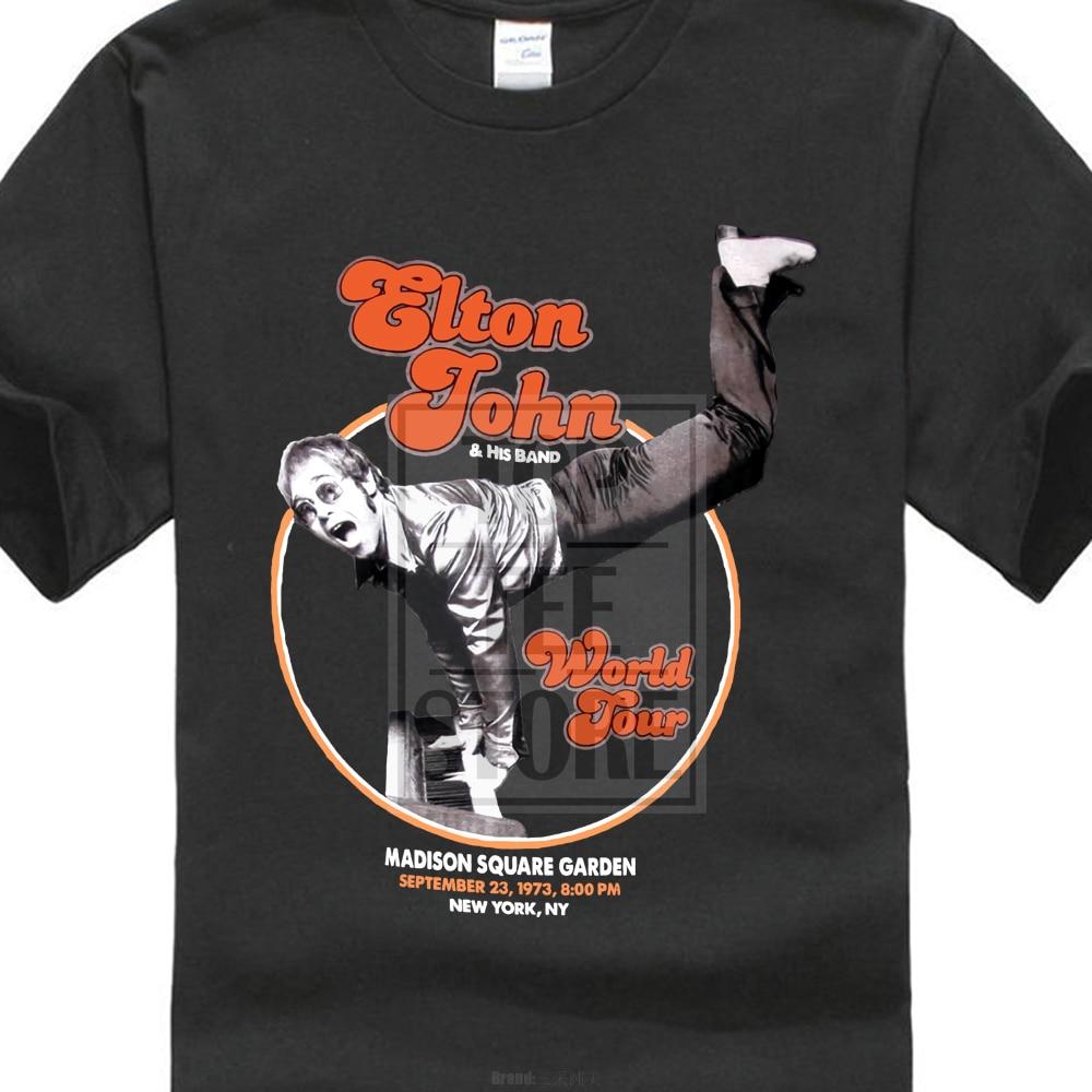 Elton John T Shirt World Tour Piano Handstand Logo Official Mens New Black Md Xl