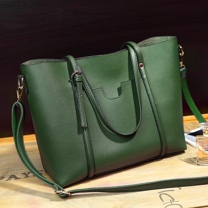 CHISPAULO Women Top PU Leather Handbags cowhide Women's Messenger Shoulder Bags bucket fashion European Fold Style Tassel 3087
