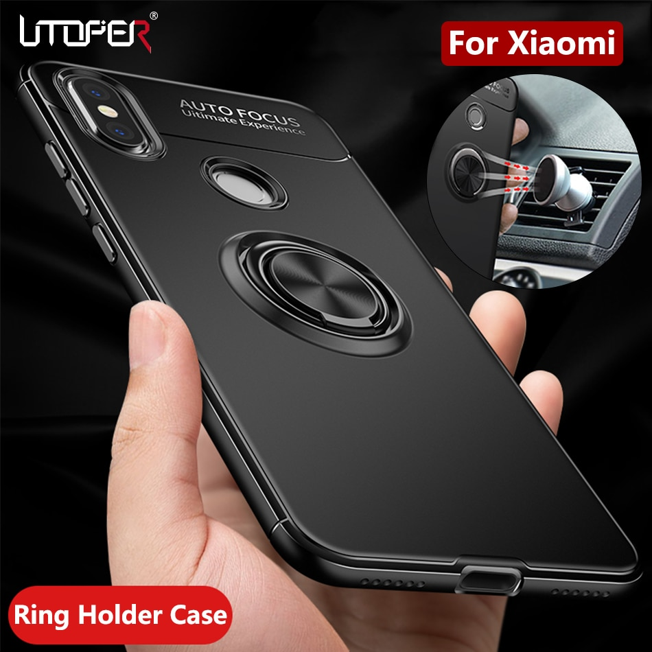 Funda de anillo 360 para Xiaomi pocofone f1 funda magnética para Xio mi A2 Lite 8 SE Max 3 A1 funda para Redmi 6 Pro 6A S2 Note 5A