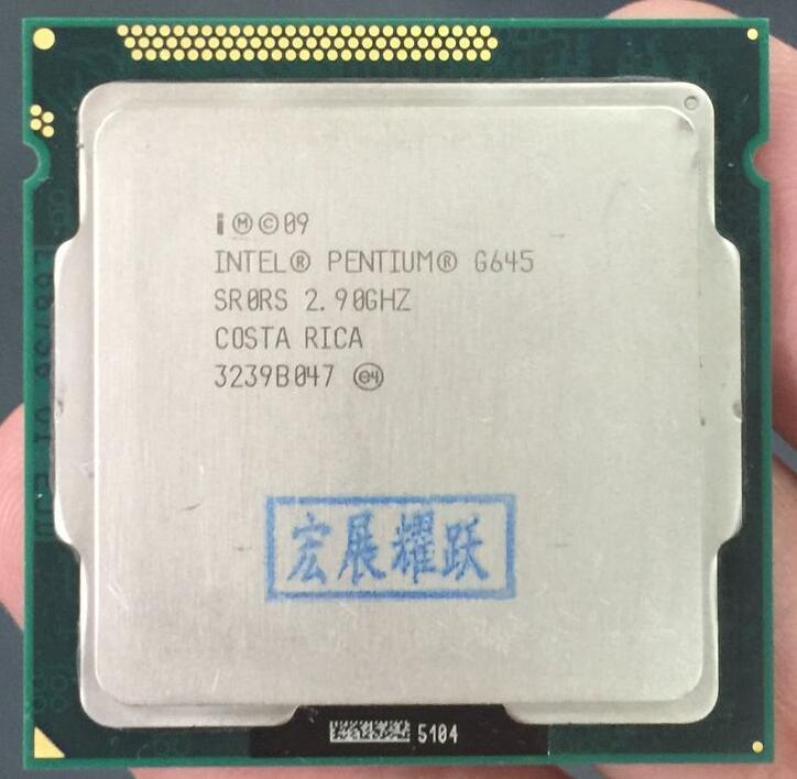 Intel CPU Pentium G645 3 3M Cache, 2.90 GHz LGA 1155 TDP 65W processador para desktop PC computador CPU