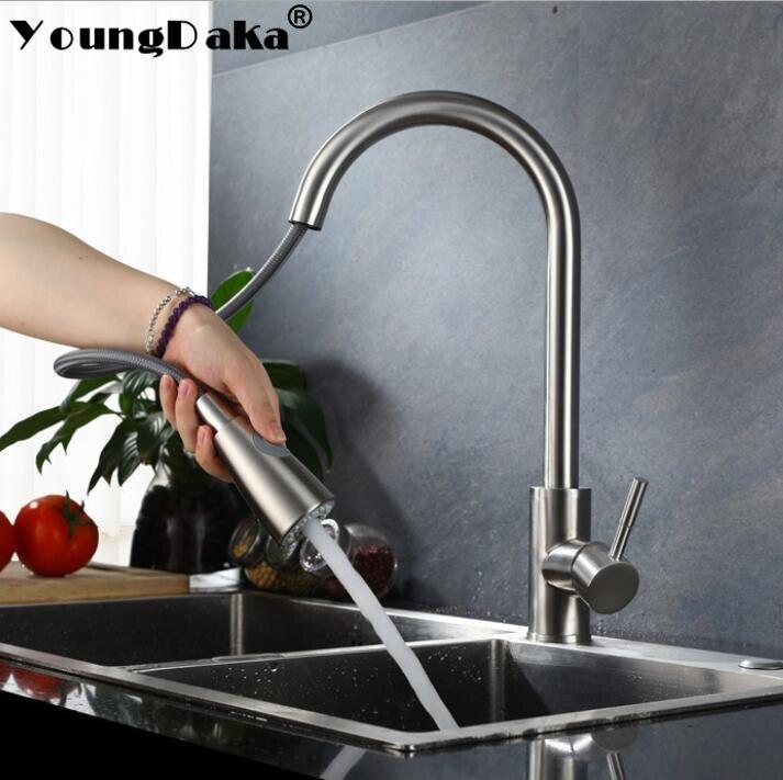 Grifo mezclador de agua caliente y fría para cocina, grifo de fregadero de un solo tirador, mezclador giratorio 360, chorro de agua pulverizador, interruptor de flujo de agua suave