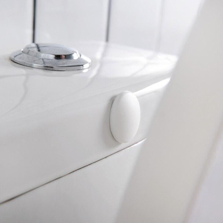 2 pçs parede engrossar adesivos mute pára-choques porta de parede vara de borracha fender lidar com fechadura da porta almofada protetora casa para móveis de toalete