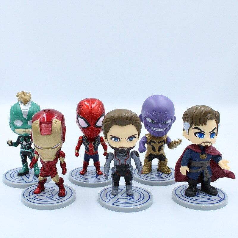 Marvel Avengers  Movie Anime Super Heros Captain America Ironman Spiderman hulk thor Superhero Action Figure Toys for Children