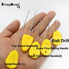 3 uds Boilies de pesca de carpa broca para cebo aguja para cebar puerta aguja Pellet herramientas de empalme accesorios de carga