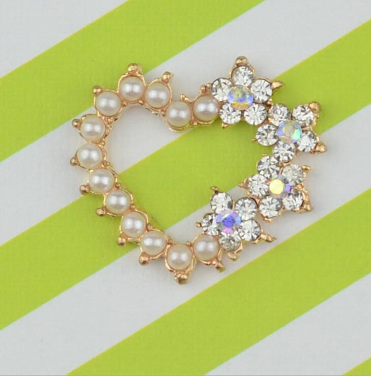 Free Shipping Wholesale 50pcs/lot 25x22mm Rhinestone Flatback Button For Hair Flower Wedding Invitation DUANWU001