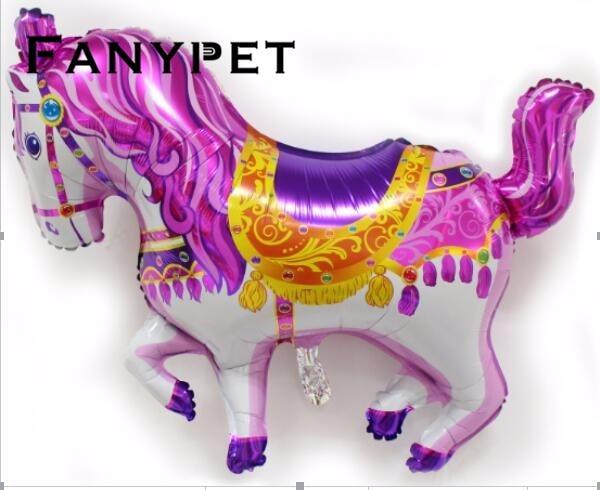 10 قطعة كبيرة الوردي الحصان بالونات عيد ميلاد حزب إمدادات مايلر بالون الاطفال اللعب الكلاسيكية الحيوان بالون الهيليوم بالون