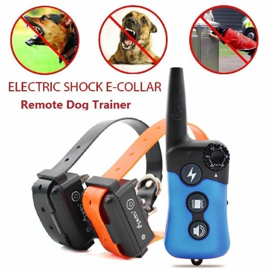 Collar de entrenamiento de choque para perros PET619 330 yard recargable a distancia para perros 1/2