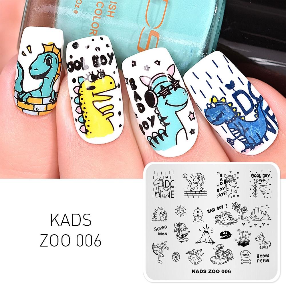 KADS ZOO 006 дизайн ногтей штамповочный шаблон принтер для пластины штамповки Nail