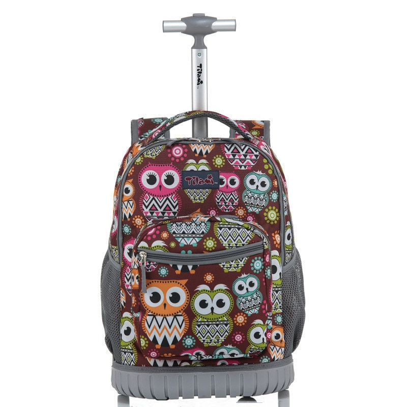 Mochila con ruedas para niños, mochila escolar para portátil de 18 pulgadas, mochila de viaje multifunción con ruedas para niños y estudiantes
