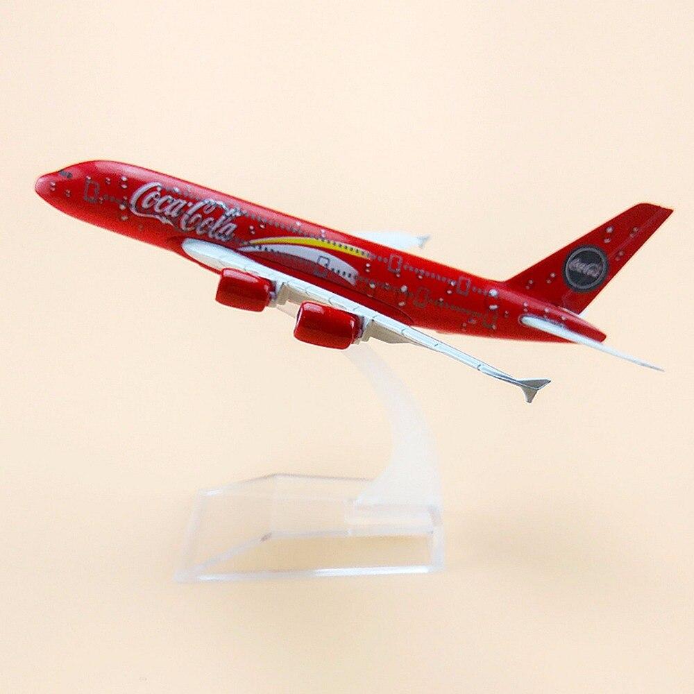 Летательный аппарат Airbus 380, металлическая, красная, воздушная Малайзия, A380, 16 см