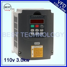 110 V 3kw VFD Variable Frequency Drive VFD/Inverter Eingang 1or 3HP 110 V Ausgang 3HP 110 V für steuerung cnc spindel motor geschwindigkeit