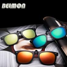 Polarized Sunglasses Clip On Sun glasses Men Women Brand Designer Safety Driving Night Vision Lenses Driver UV400 Shades RS218